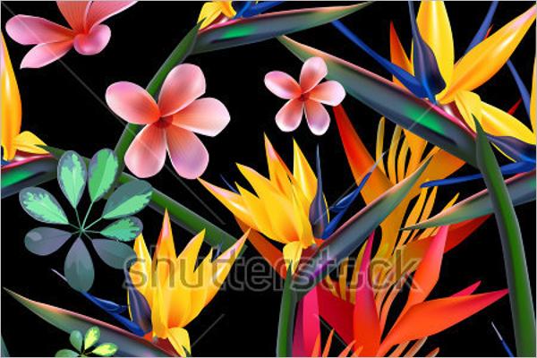 Modern Wildlife Tropical Pattern