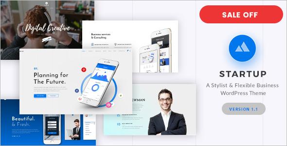 Modern WordPress Themes for Startups