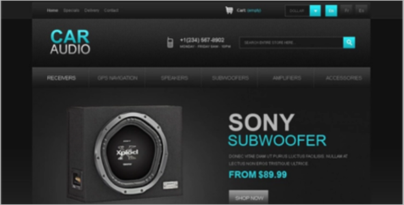 Motor Car Audio PrestaShop Theme