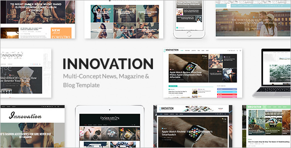 Multi-Concept Entertainment WordPress Template