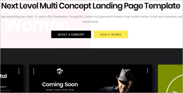 Multi Concept Landing Page Theme
