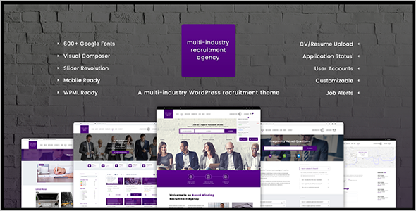 Multi Industry Jobs WordPress Theme