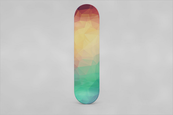 Multicolour Skateboard Mockup Design