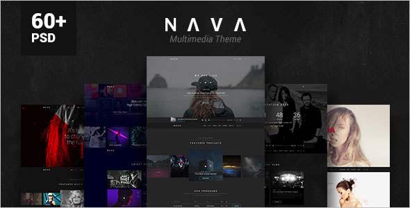 Multimedia PSD Template