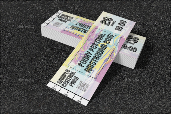 Multiple Event Ticket Template