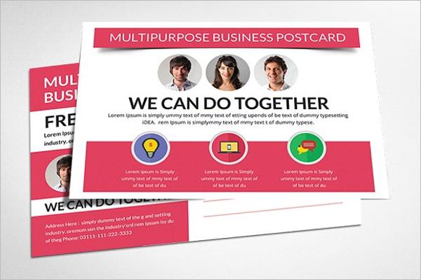 Multipurpose Construction Business Postcard