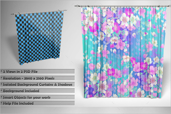 Multipurpose Curtain Mockup Template