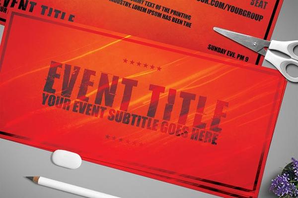 Multipurpose Event Ticket Design
