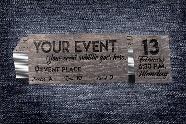 Multipurpose Event Ticket Template