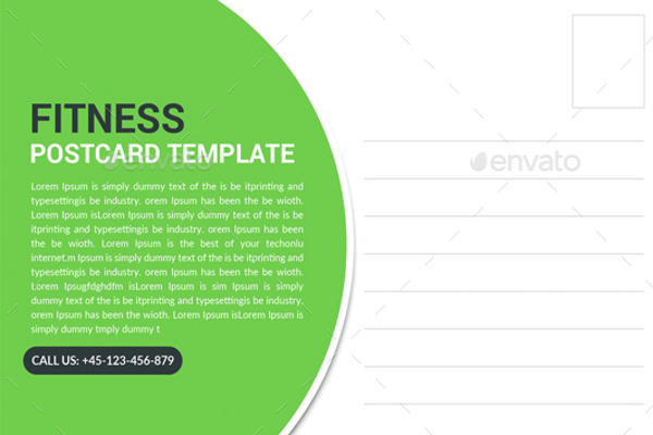 Multipurpose Fitness Postcard Template