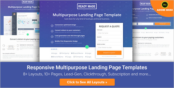 20 university landing page templates free premium for Wordpress squeeze page template