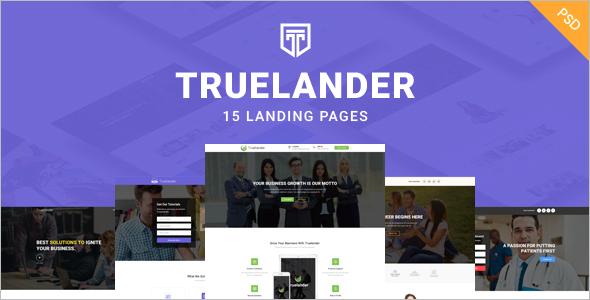 Multipurpose PSD Landing Page template
