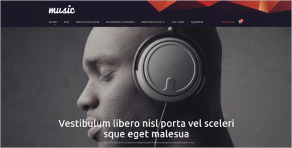 Music Store PrestaShop Template