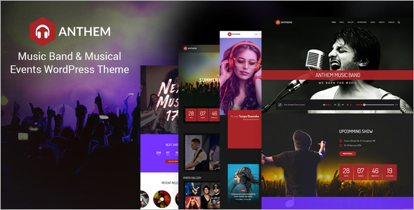 Musical BrandEvent WordPress Theme