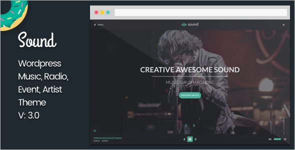 Musical WordPress Theme