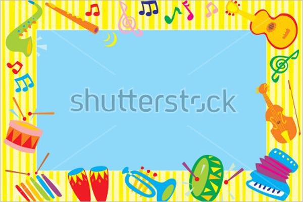Musical photo frame Template