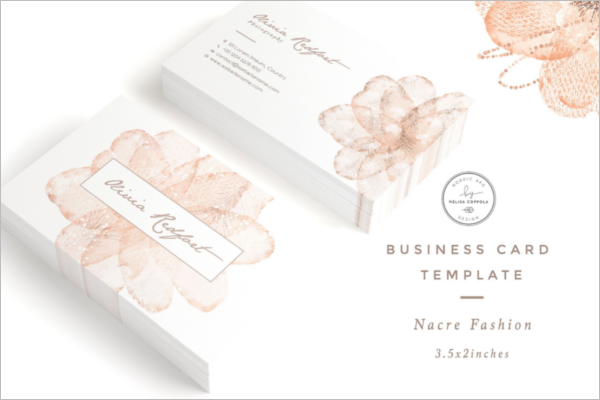 Nacre Fashion Business Card