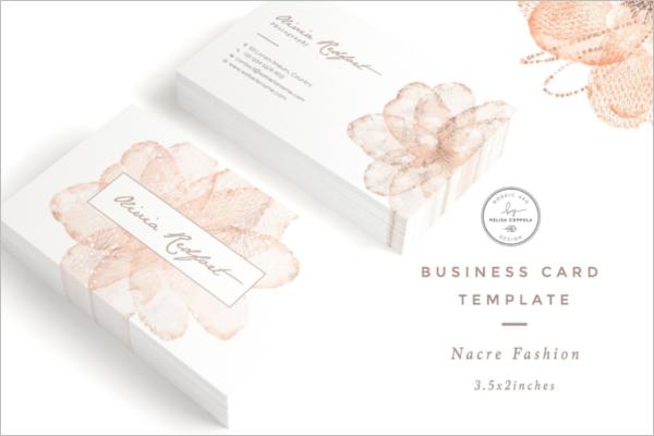 Nacre Fashion Business Card