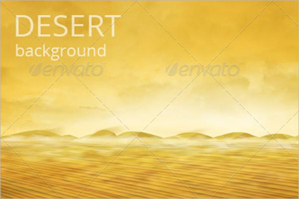 Nature Desert Background Template