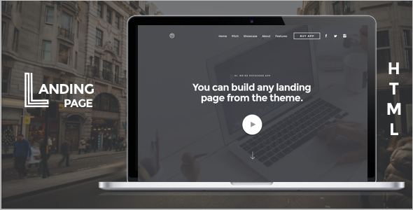 New App Landing Page HTML Template