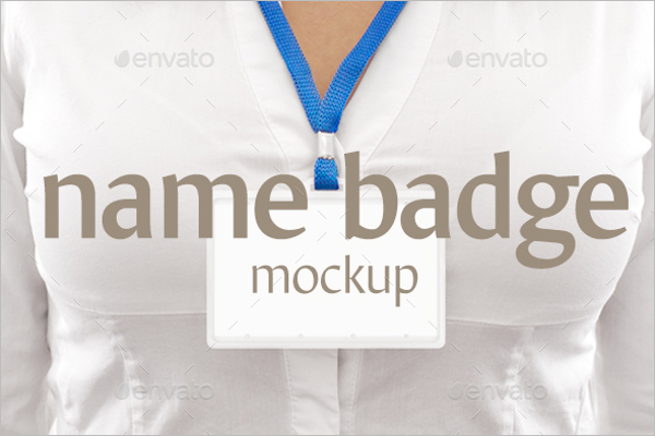 New Badge Mockup Template