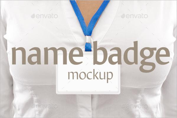 New Badge Mockup Template