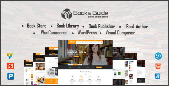 20 best book store wordpress themes free premium. Black Bedroom Furniture Sets. Home Design Ideas