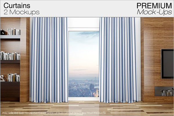 New Curtain Mockup Template