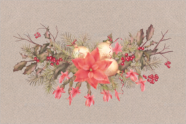 New Watercolor Christmas Template