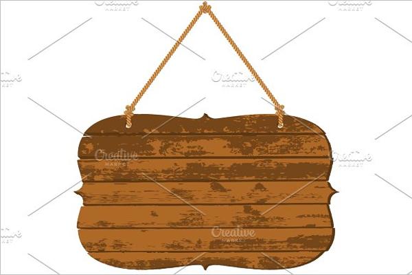 New Wooden Banner Template