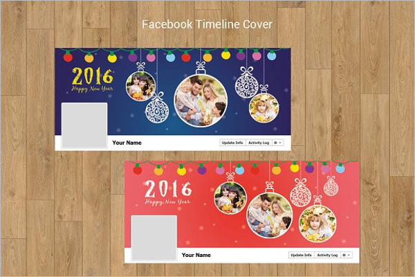 New Year Facebook Timeline