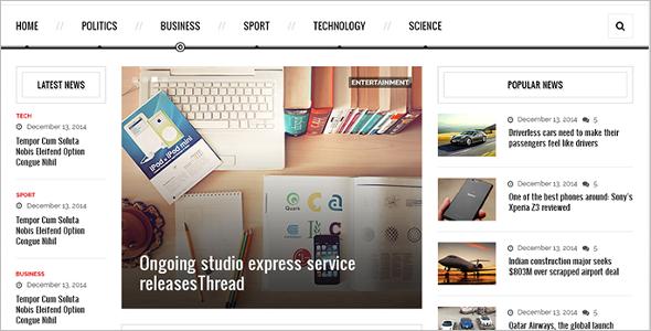 News Portal PHP Theme