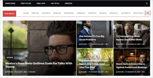Newyork News WordPress Theme