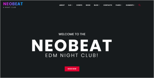Night Club Entertainment WordPress Theme