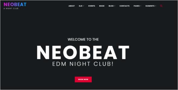 Night Club Entertainment WordPress Theme