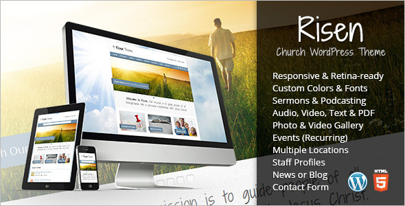 Nonprofit Church WordPress Theme