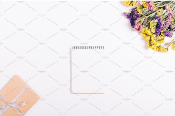 Notebook Gift Box Mockup Design