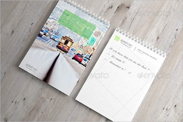 Notepad Cover Mockup Template