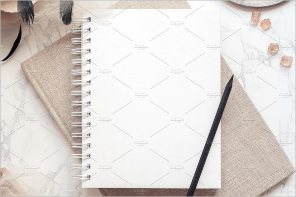 Notepad PSD Mockup Template
