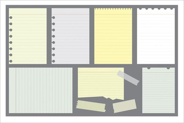 Notepad Paper Mockup Design