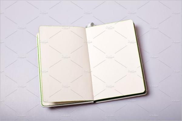 Notepad With Blank Pages Mockup PSD