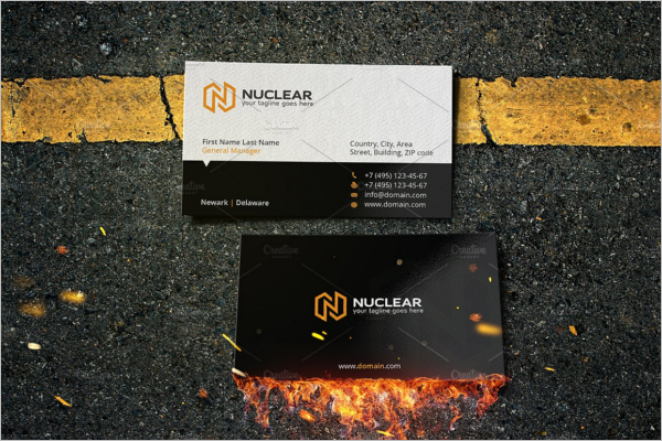 Nuclear Electric Business Card Template
