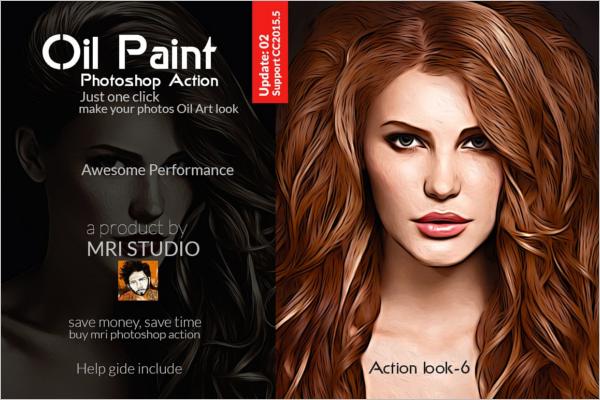 Oil Paint Photoshop Image Action