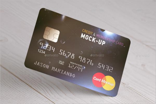 Old Credit Card Mockup