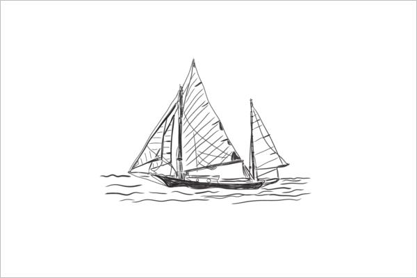 Old Ship Art vector Design