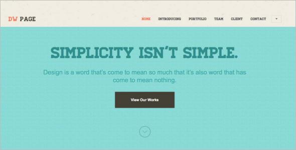 On Page WordPress Theme