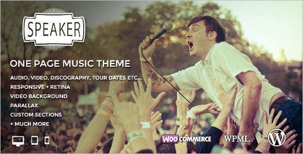 One Page Entertainment WordPress Theme