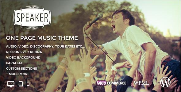 One Page Entertainment WordPress Theme