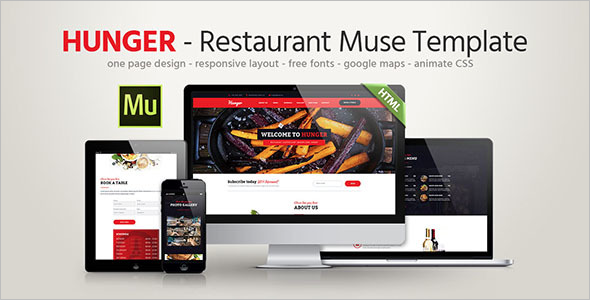 One Page Restaurant Landing Page Template
