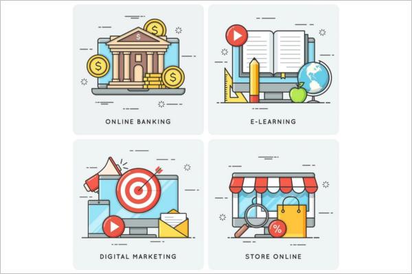 Online Banking Marketing Banner Design